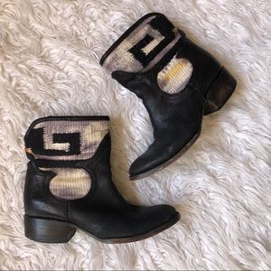 Freebird by Steven leather ankle booties